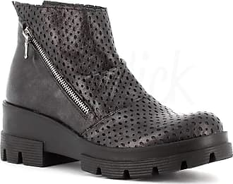 Generico Generic Made in Italy Leather Boot with Wedge - Black Black Size: 5 UK