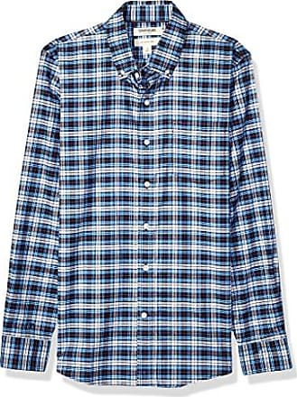 Brand Brand Goodthreads Men/'s Slim-Fit Long-Sleeve Plaid Twill Shirt