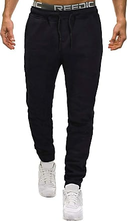 NPRADLA Mens Gym Joggers Sweatpants, Causal Slim Fit Running Trousers Tracksuit Jogging Bottoms with Double Pockets Men Casual Solid Overalls Pocket Sport Wor
