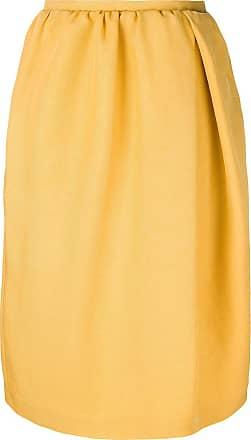 Rochas Saia midi de seda - Amarelo