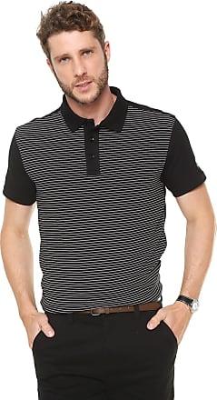 59a8f72522 Mr Kitsch Camisa Polo Mr Kitsch Reta Listras Preta