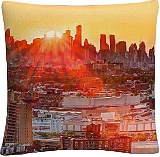 Trademark Fine Art Midtown Sunset Orange Cityscape by Masters Fine Art