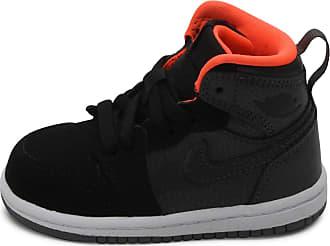 Nike Jordan Kids 1 Retro High (BT) MTLC HEMATITE/BLACK/COOL GREY/HYPER ORANGE 705304-016 8c