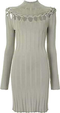 Dion Lee braided skivvy mini dress - Green