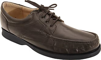 Roamers Mens Canoe Front Apron Tie Softie Leather Shoes (12 UK) (Brown)