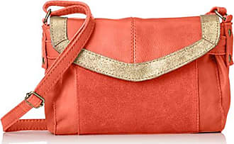 9002d6e905 Pieces Pcisaura Leather Small Cross Body, Sacs bandoulière femme, Rose  (Pink Coral)