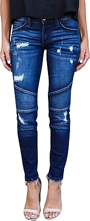 Yidarton Womens Slim Fit Skinny Denim Ripped Jeans Stretchy Boyfriend Jeans Pants Trousers Mid Waisted Stylish