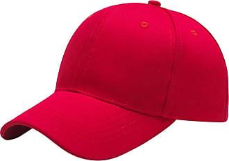 Yidarton Baseball Cap Polo Style Classic Sports Casual Plain Sun Hat(Red)