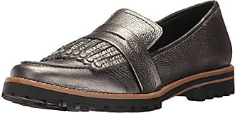 Bernardo Womens OLLEY Loafer Flat, Gunmetal Tumbled Pascale, 9.5M M US