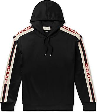 2c3f2166141f Gucci Webbing-trimmed Tech-jersey Hoodie - Black