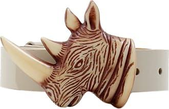 MATRI Cinto Cabeça Rinoceronte Marrom - Mulher - Único BR