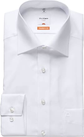 Olymp Olymp Modern Fit New Kent Collar Shirt Long Sleeve M - white