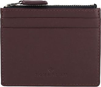 Scharlau Perls Credit Card Holder Burgundy