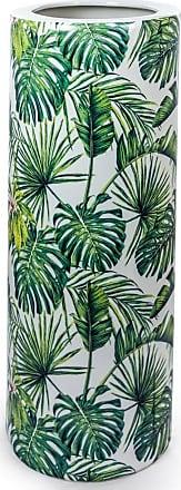 Sue Parkinson Home Collection Ceramic Tropical Leaf Umbrella Stand