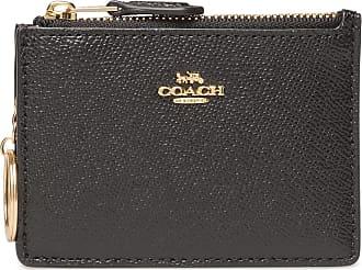 Coach Mini Id Skinny Bags Card Holders & Wallets Wallets Svart Coach