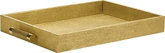Aerin Rectangular Shagreen Tray - Gold Linen