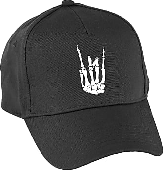 HippoWarehouse Skeleton Hand Baseball Cap hat Premium Printed 5 Panel OneSize Adults Black