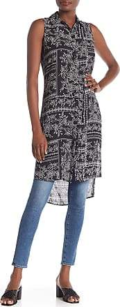 Spense Sleeveless Printed Hi-Lo Tunic