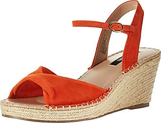 Kensie Womens Vermont Sandal, Orange, 6.5 M US
