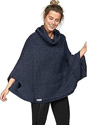 08e16abee112f8 Kangaroos Damen Poncho Pullover mit Tasche (36/38, Blau)