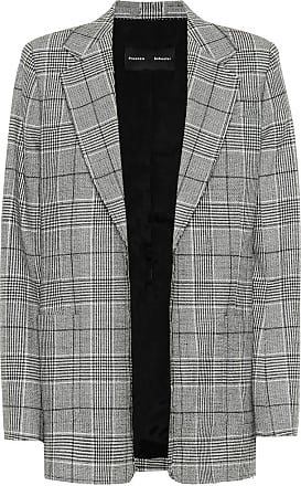 Proenza Schouler Novelty checked stretch-wool blazer