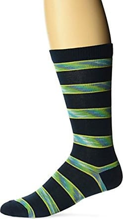 Ozone Mens Space Dye Stripe Sock, Navy, 10-13