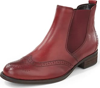 Gabor Chelsea boots Budapester perforation Gabor red