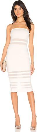Superdown Magdalena Tube Mesh Dress in White