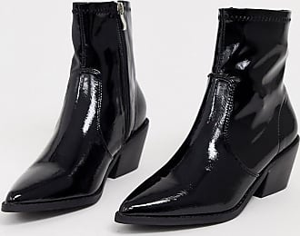 Glamorous Western-Stiefel in Schwarz lackiert