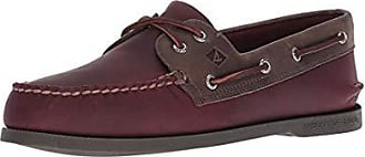 Sperry Top-Sider Mens A/O 2-Eye Pullup Boat Shoe, Burgundy/Grey, 10.5 M US