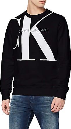 Calvin Klein Jeans Mens Upscale Monogram Crew Neck Sweatshirt, Black (Ck Black Bae), Medium (Size:M)
