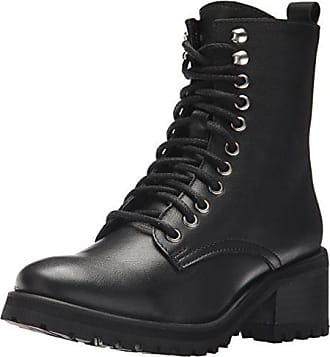 99728a33d6c Steve Madden Womens Geneva Combat Boot Black Leather 5.5 M US
