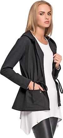 Ladies Casual Work Open Front 3//4 Turn-up Sleeve Boyfriend Jacket Blazer FA528