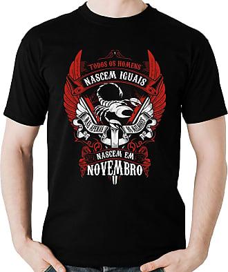 Dragon Store Camiseta Homens de Novembro os Melhores Signo Escorpião