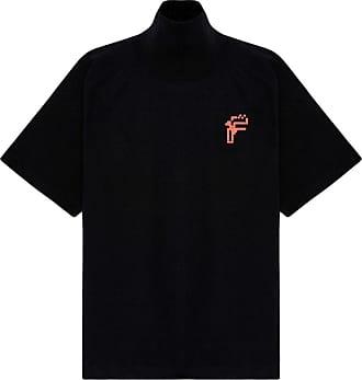 Fenty Puma by Rihanna Camiseta oversized com gola alta - Preto