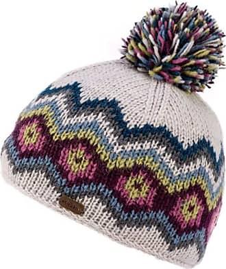 KuSan 100% Wool Multi-Colour Bobble Hat PK1822 (Blue)
