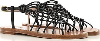 Stuart Weitzman Sandals for Women On Sale, Black, Leather, 2017, US 7.5 (EU 38)