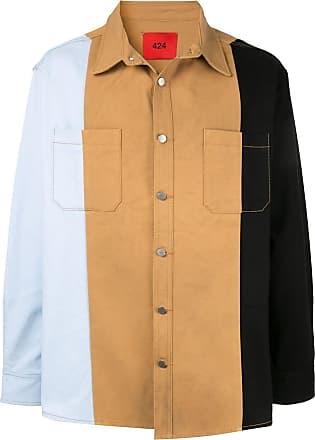 424 Camisa jeans color block - Estampado
