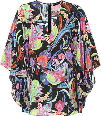 Etro Floral-printed silk-blend top