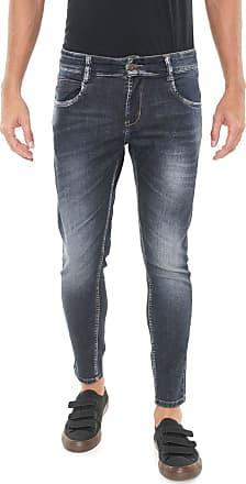 Sawary Calça Jeans Sawary Skinny Estonada Azul-marinho