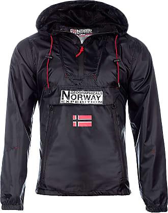 Geographical Norway Downcity Men Windbreaker Jacket Black L