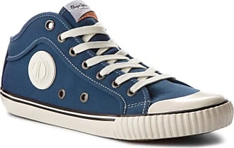 Pepe Jeans London Mens Industry 1973 Trainers Factory Blue