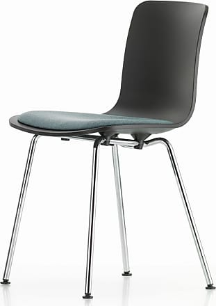Vitra HAL Chair Basic Dark Hopsak Fabric & Chrome