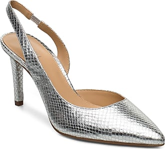 Michael Kors Lucille Flex Sling Shoes Heels Pumps Sling Backs Silver Michael Kors Shoes