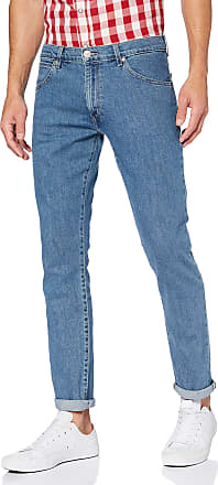 Wrangler Mens Larston Jeans Slim, Blue (Midstone 091), 40W / 34L