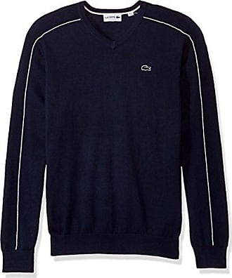 67fb7599e Lacoste Mens Jersey and Pique Sweater with White Outlined Croc