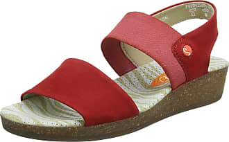 0e561f23f8f5 Softinos Womenss Alp425Sof Sling Back Sandals Red
