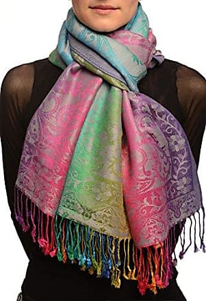 363574ce94c8e2 Liss Kiss Large Ombre Paisley On Grey Pashmina Feel With Tassels - Grau  Scarf, Schal