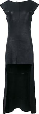 Olsthoorn Vanderwilt Vestido assimétrico de couro - Preto