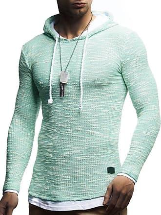 LEIF NELSON Mens Hoodie Pullover Hood Sweater Sweatshirt LN-8179 Mint XX-Large
